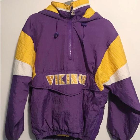 best sneakers 08af3 12cc8 Vintage Minnesota Vikings Starter Jacket Pullover